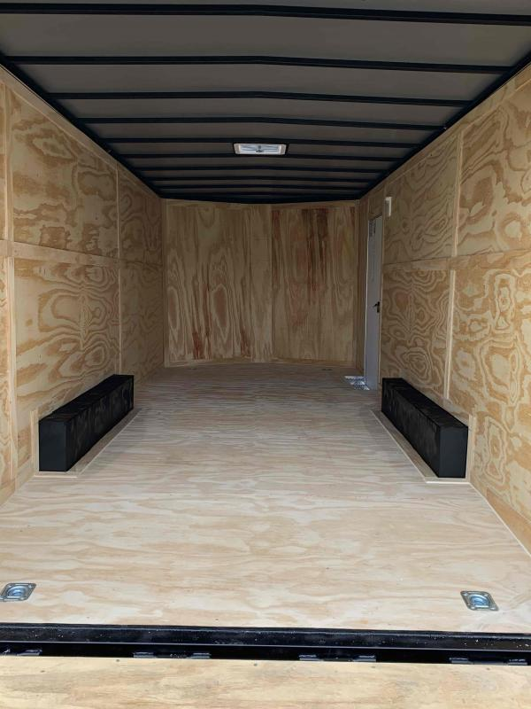 New 2022 Spartan 8.5ft x 20ft 7k Tandem Axle  Bumper Pull Enclosed w/6.5ft walls (White)