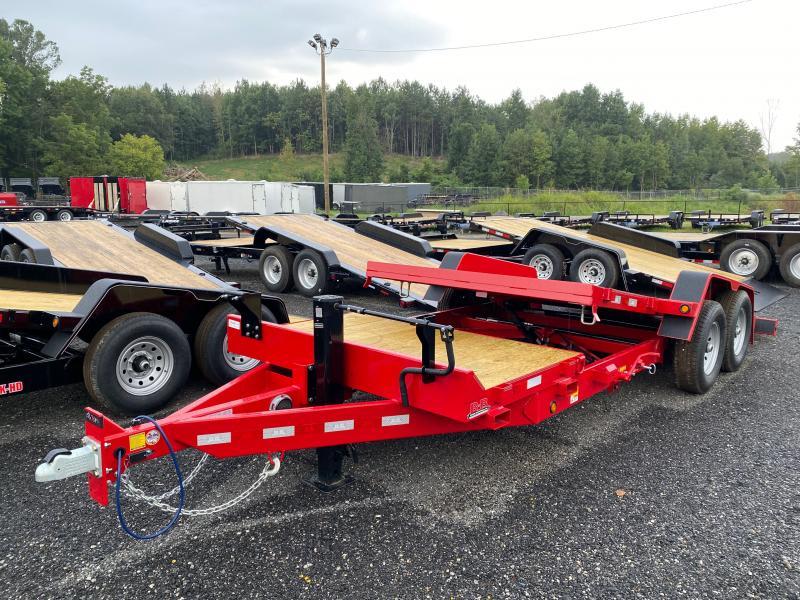 New 2021 Behnke 7ft x 20ft 14k Tandem Axle  Bumper Pull Tilt Deck   (Red)