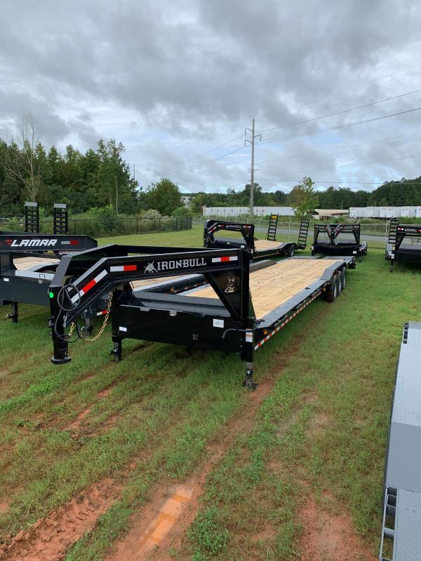 New 2022 Iron Bull 8.5ft x 40ft 21k Triple Axle  Gooseneck Car/Equipment Hauler   (Black)