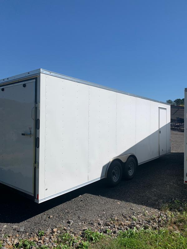 New 2022 Rock Solid 8.5ft x 24ft 10k Tandem Axle  Bumper Pull Enclosed w/6.5ft walls (White)