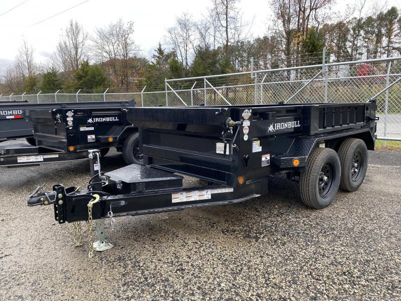 New 2021 Iron Bull 5ft x 10ft 7k Tandem Axle  Bumper Pull Dump w/1.5ft walls (Black)