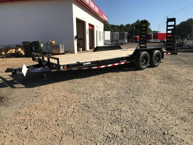 New 2020 Load Trail 7ft x 20ft 10k Tandem Axle Bumper Pull Car/Equipment Hauler (Black)