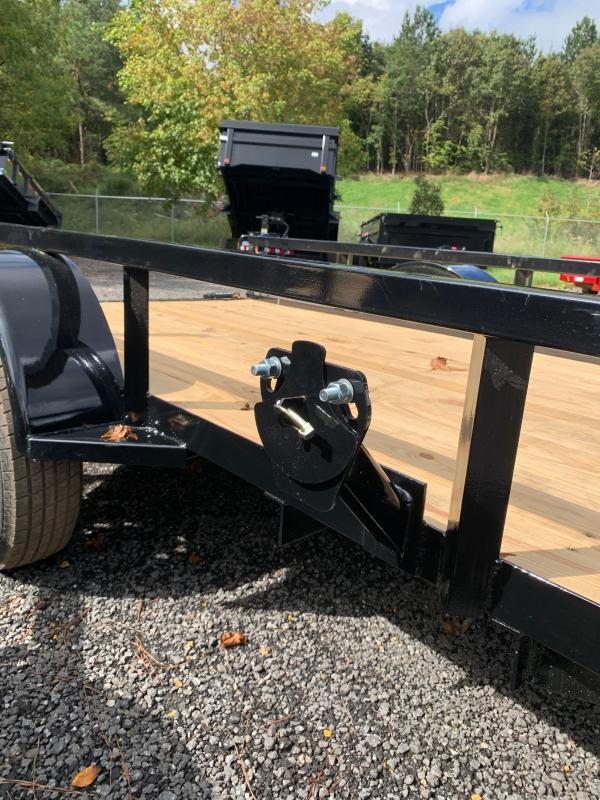 New 2022 Load Trail 5ft x 10ft 3.5k Single Axle  Bumper Pull Utility w/1ft walls (Black)