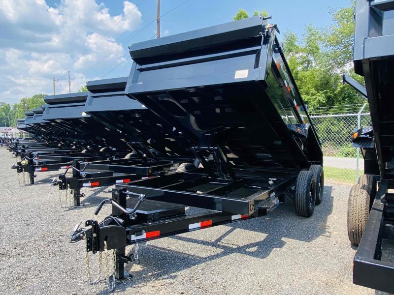 New 2022 Iron Bull 7ft x 16ft 14k Tandem Axle  Bumper Pull Dump w/2ft walls (Black)