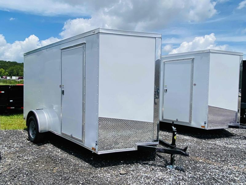 New 2021 Spartan 6ft x 12ft 3.5k Single Axle  Bumper Pull Enclosed w/6ft walls (White)