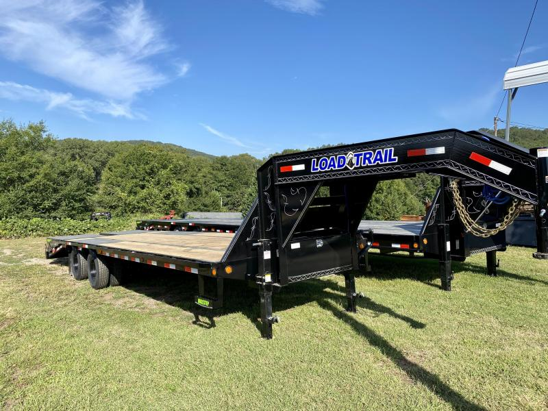 New 2021 Load Trail 8.5ft x 28ft 22k Tandem Axle Low-Pro Deckover Gooseneck Flatbed   (Black)