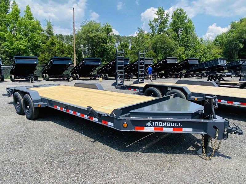 New 2021 Iron Bull 7ft x 22ft 14k Tandem Axle HD Bumper Pull Car/Equipment Hauler   (Ranch Gray)