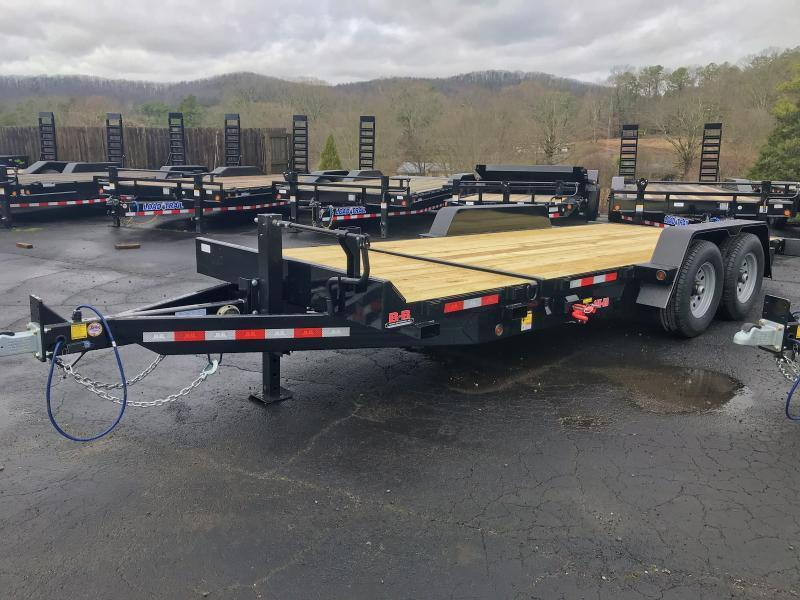 New 2021 B-B 7ft x 20ft 14k Tandem Axle  Bumper Pull Tilt Deck   (Black)