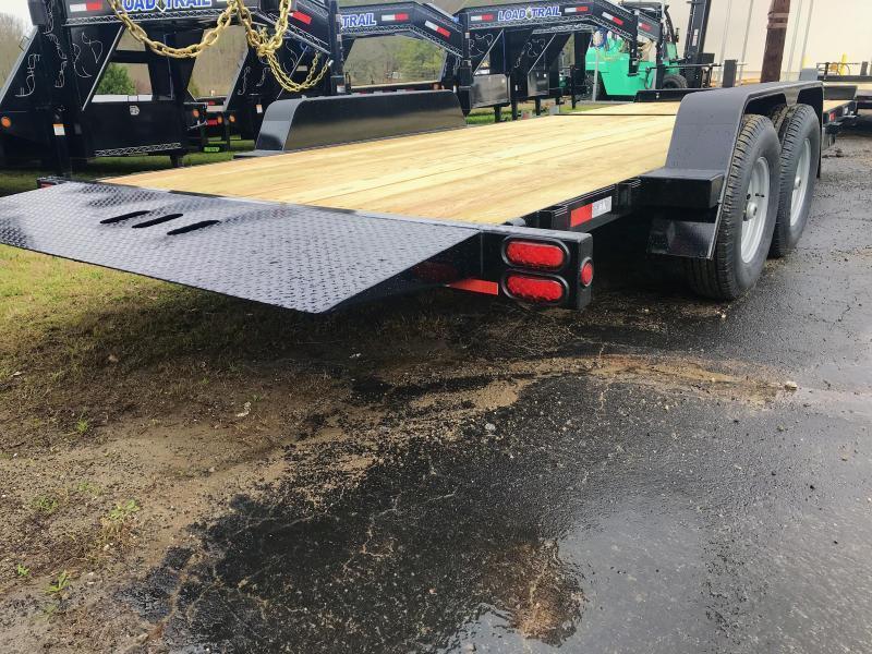 New 2021 B-B 7ft x 20ft 14k Tandem Axle  Bumper Pull Tilt Deck   (Black)