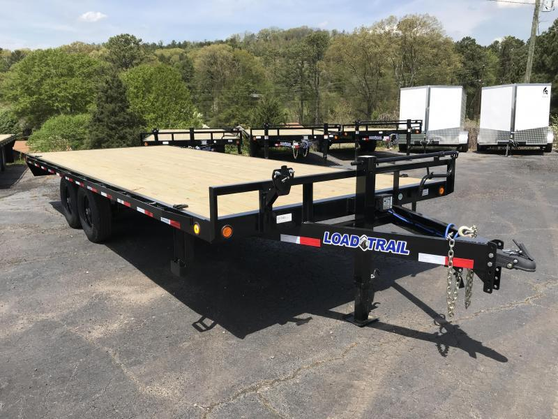 New 2021 Load Trail 8.5ft x 20ft 14k Tandem Axle Deckover Bumper Pull Flatbed   (Black)