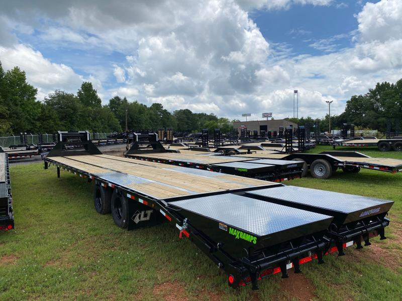 New 2021 Load Trail 8.5ft x 40ft 24k Tandem Axle Low-Pro Gooseneck Flatbed   (Black)