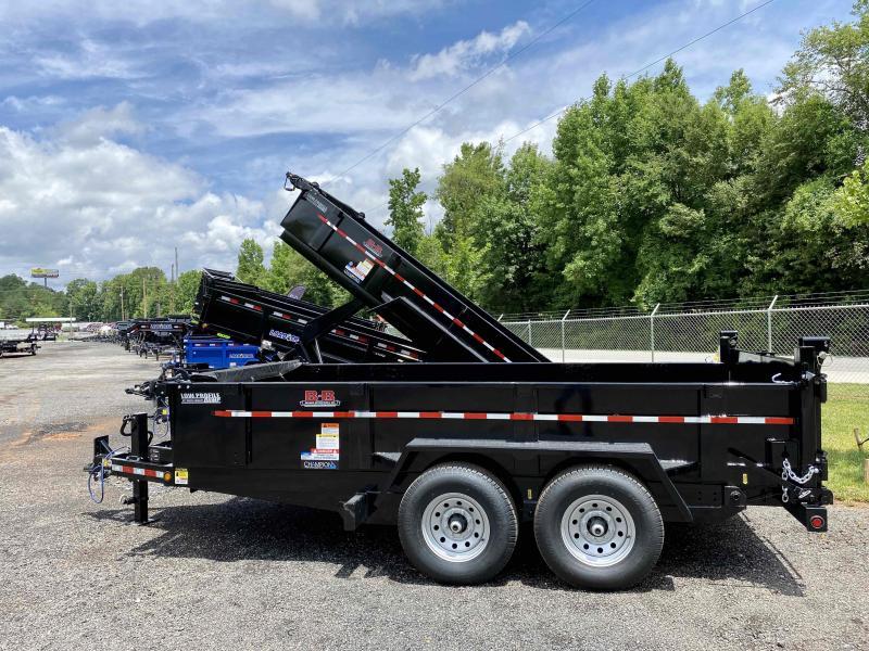 New 2021 Behnke 7ft x 14ft 14k Tandem Axle Extreme-Duty Bumper Pull Dump w/2ft walls (Black)