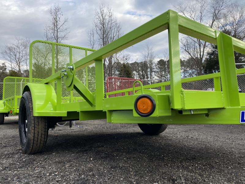 New 2021 Load Trail 5ft x 10ft 3.5k Single Axle  Bumper Pull Utility   (Safety Green)