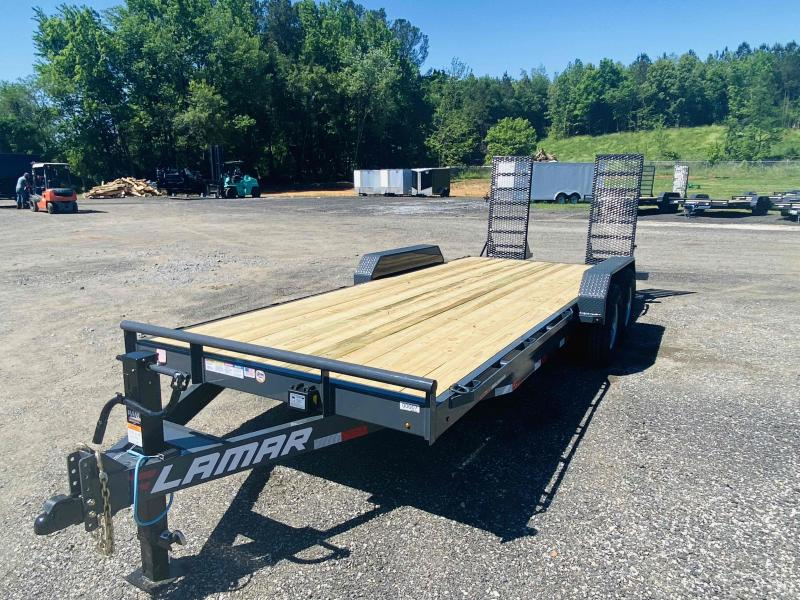 New 2021 Lamar 7ft x 20ft 14k Tandem Axle  Bumper Pull Car/Equipment Hauler   (Lamar Gray)