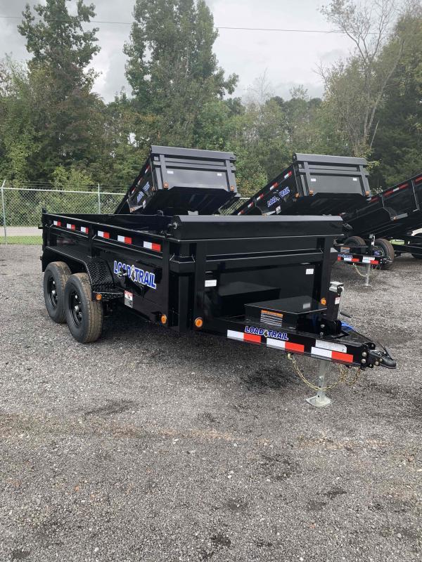 New 2022 Load Trail 6ft x 12ft 10k Tandem Axle  Bumper Pull Dump w/2ft walls (Black)
