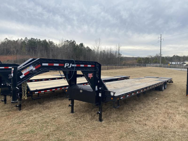 Used 2020 PJ 8.5ft x 40ft 25k Tandem Axle  Gooseneck Car/Equipment Hauler   (Black)