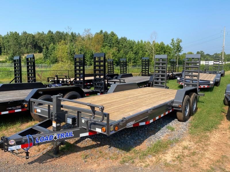 New 2022 Load Trail 7ft x 20ft 14k Tandem Axle  Bumper Pull Car/Equipment Hauler   (Gray)