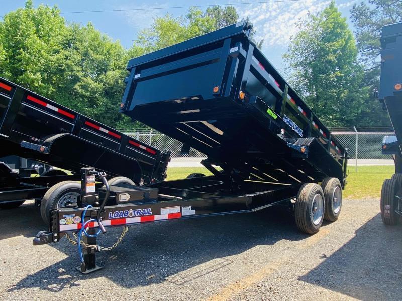 New 2021 Load Trail 7ft x 14ft 16k Tandem Axle  Bumper Pull Dump w/2ft walls (Black)