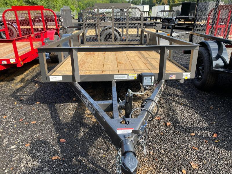 New 2021 East Texas 5ft x 10ft 3.5k Single Axle  Bumper Pull Utility w/1ft walls (Charcoal)