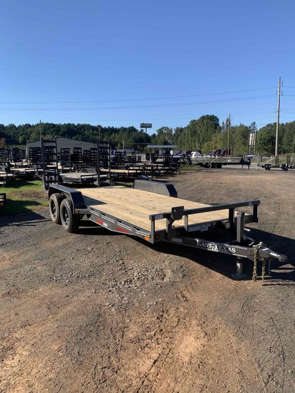 New 2022 East Texas 7ft x 18ft 12k Tandem Axle  Bumper Pull Car/Equipment Hauler   (Charcoal)