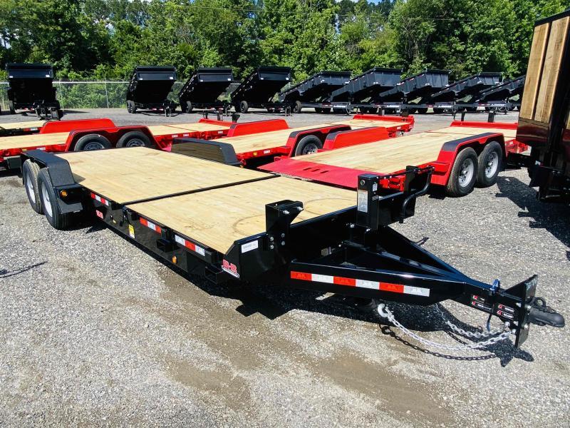 New 2021 Behnke 7ft x 22ft 14k Tandem Axle Heavy Duty Bumper Pull Tilt Deck   (Black)