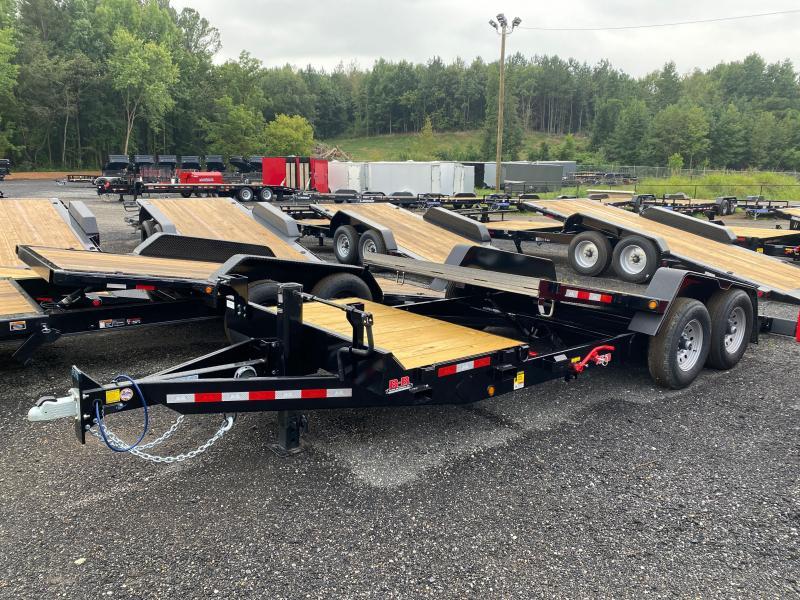 New 2022 Behnke 7ft x 20ft 14k Tandem Axle  Bumper Pull Tilt Deck   (Black)