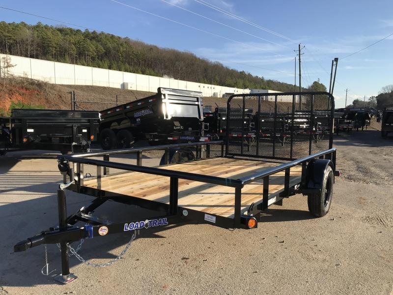 New 2020 Load Trail 7ft x 12ft 3.5k Single Axle  Bumper Pull Utility   (Black)