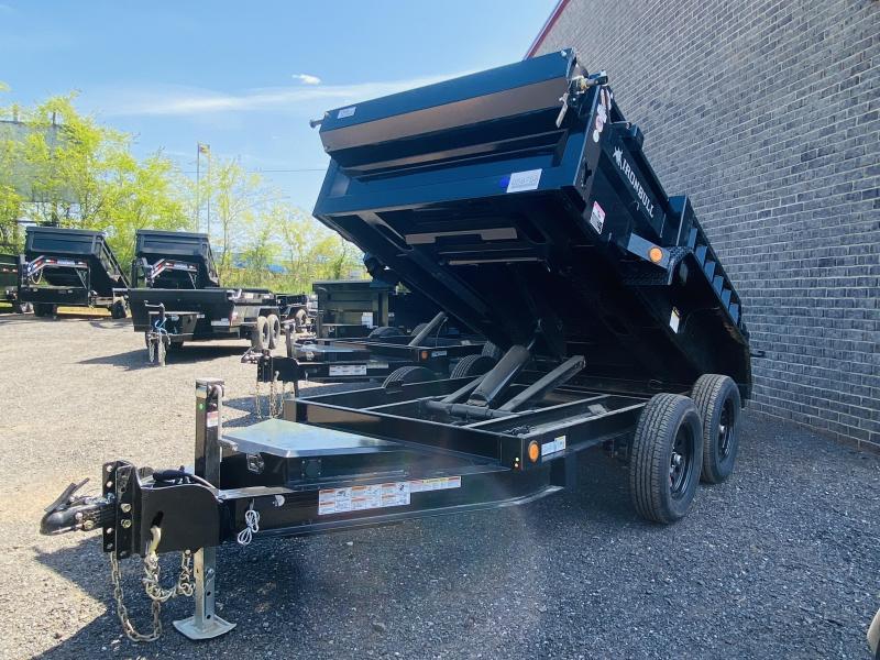 New 2021 Iron Bull 5ft x 10ft 7k Tandem Axle  Bumper Pull Dump w/1.5ft walls (Black)