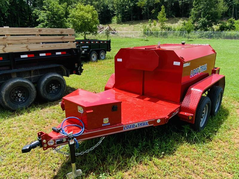 New 2021 Load Trail 5ft x 11ft 7k Tandem Axle 550 Gallon Bumper Pull Tank   (Red)