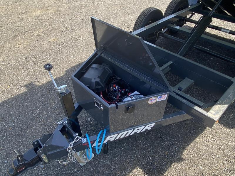 New 2021 Lamar 5ft x 10ft 7k Tandem Axle Mini Bumper Pull Dump w/1.5ft walls (Lamar Gray)