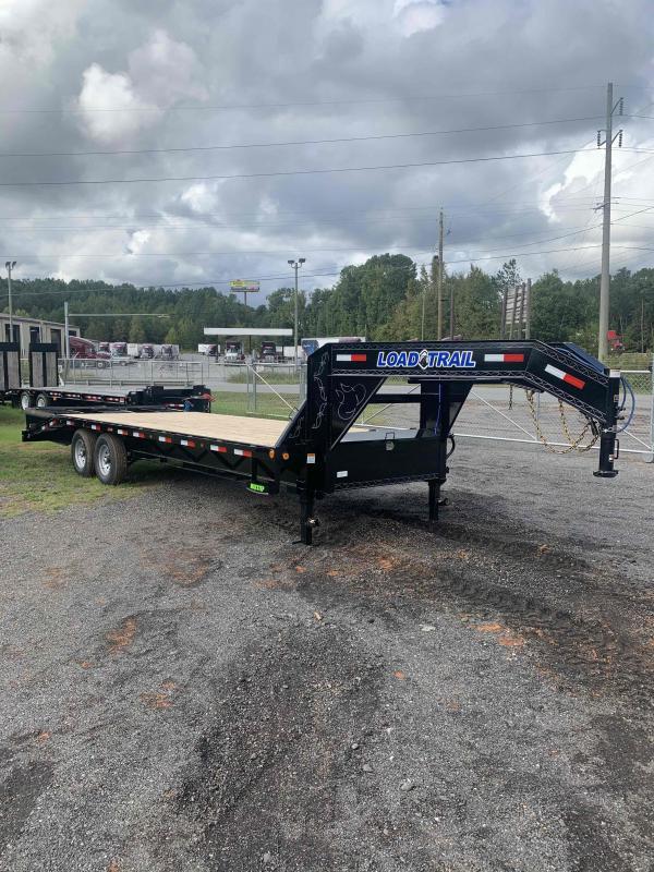 New 2022 Load Trail 8.5ft x 25ft 14k Tandem Axle Heavy-Duty  Gooseneck Flatbed   (Black)