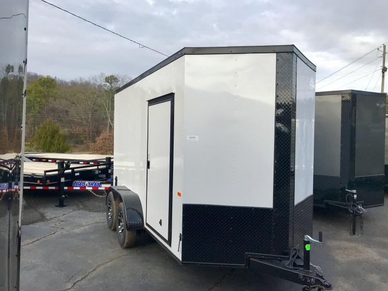 New 2021 Rock Solid 6ft x 12ft 7k Tandem Axle  Bumper Pull Enclosed w/7ft walls (Dove Gray w/ SBO)