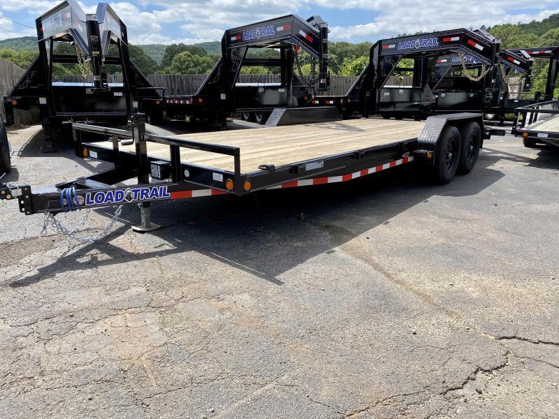 New 2020 Load Trail 7ft x 18ft 10k Tandem Axle  Bumper Pull Car/Equipment Hauler   (Black)