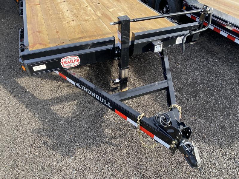 New 2021 Iron Bull 7ft x 22ft 14k Tandem Axle  Bumper Pull Car/Equipment Hauler   (Black)