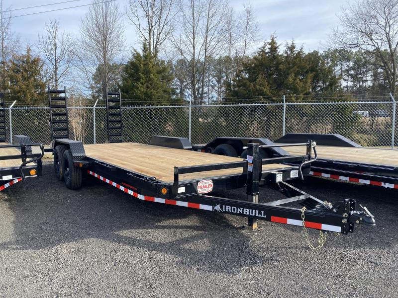 New 2021 Iron Bull 7ft x 22ft 14k Tandem Axle  Bumper Pull Car/Equipment Hauler   (Black)
