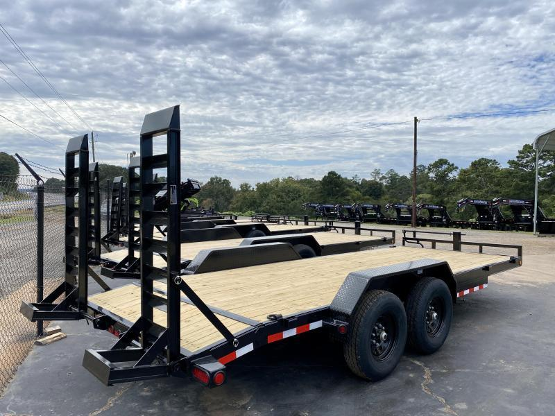 New 2021 Load Trail 7ft x 20ft 14k Tandem Axle  Bumper Pull Car/Equipment Hauler   (Black)