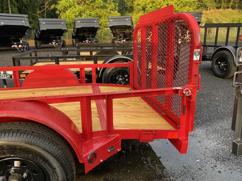 New 2021 East Texas 5ft x 10ft 3.5k Single Axle  Bumper Pull Utility w/1ft walls (Red)