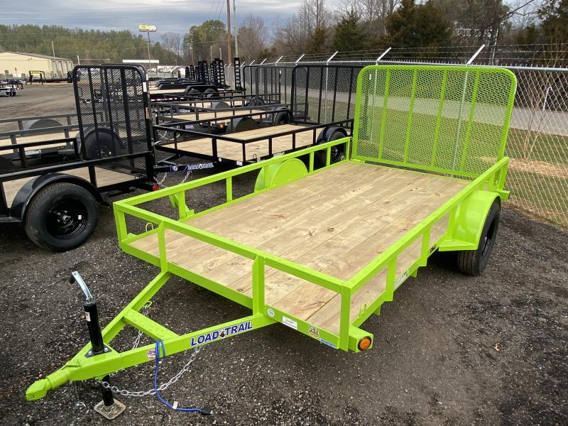New 2021 Load Trail 6ft x 12ft 3.5k Single Axle  Bumper Pull Utility   (Safety Green)