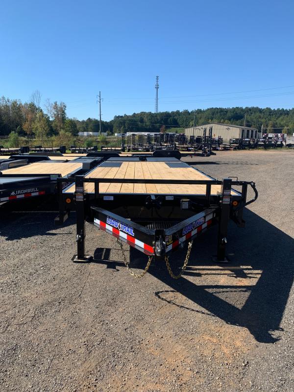 New 2022 Load Trail 8.5ft x 24ft 14k Tandem Axle  Bumper Pull Flatbed   (Black)