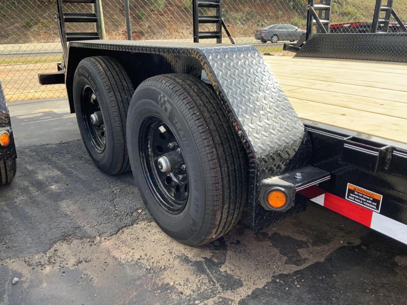 New 2021 Load Trail 7ft x 18ft 10k Tandem Axle  Bumper Pull Car/Equipment Hauler   (Black)