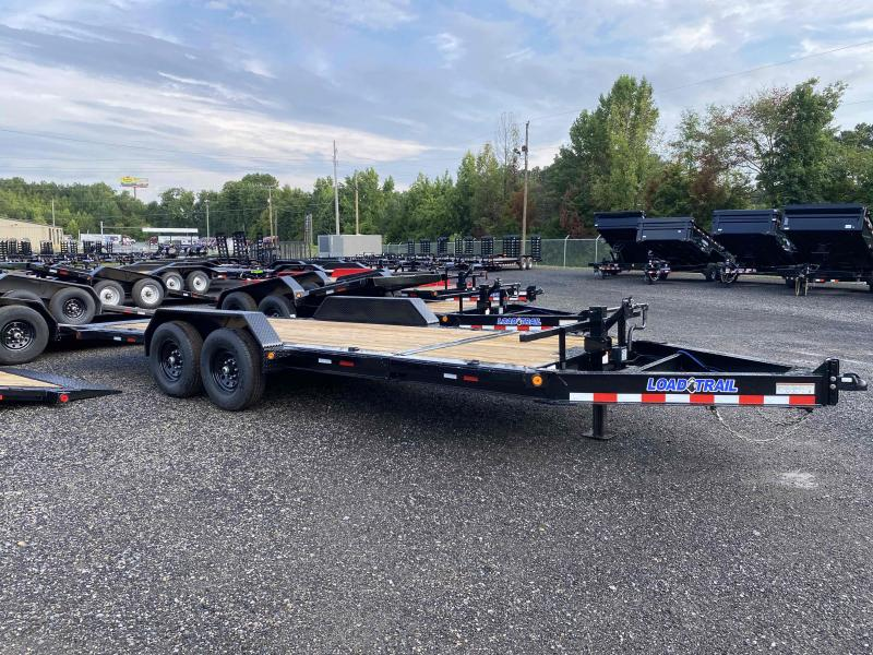 New 2022 Load Trail 7ft x 20ft 14k Tandem Axle  Bumper Pull Tilt Deck   (Black)