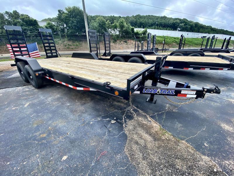 New 2020 Load Trail 7ft x 20ft 14k Tandem Axle  Bumper Pull Car/Equipment Hauler   (Black)
