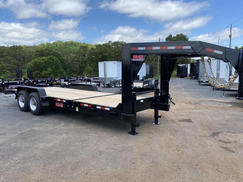 New 2020 B-B 7ft x 22ft 20k Tandem Axle Heavy-Duty Gooseneck Tilt Deck   (Black)