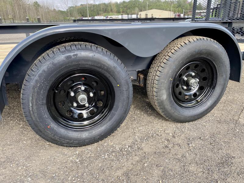 New 2021 Lamar 7ft x 18ft 7k Tandem Axle  Bumper Pull Utility   (Lamar Gray)