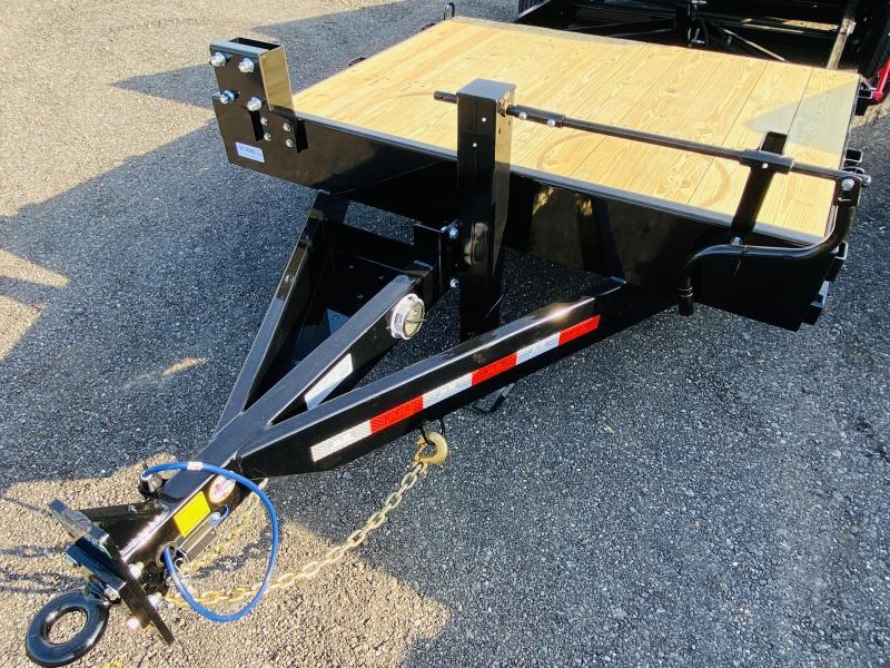 New 2021 Behnke 7ft x 22ft 20k Tandem Axle Heavy Duty Bumper Pull Tilt Deck   (Black)