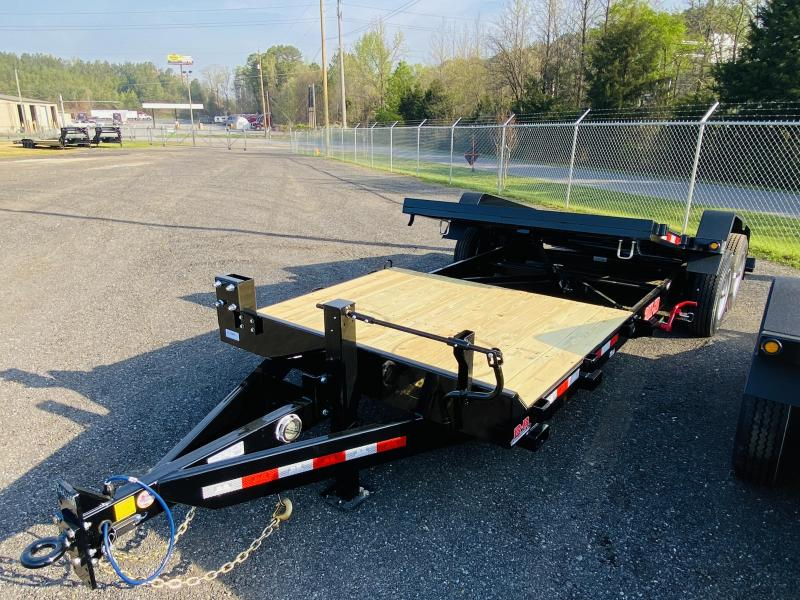 New 2021 Behnke 7ft x 22ft 20k Tandem Axle Heavy Duty Bumper Pull Tilt Deck   (Black)