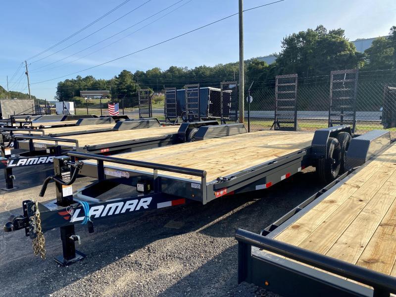 New 2021 Lamar 7ft x 20ft 14k Tandem Axle  Bumper Pull Car/Equipment Hauler   (Lamar Gray)