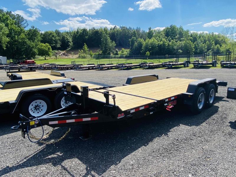 New 2021 Behnke 7ft x 20ft 20k Tandem Axle Heavy Duty Bumper Pull Tilt Deck   (Black)