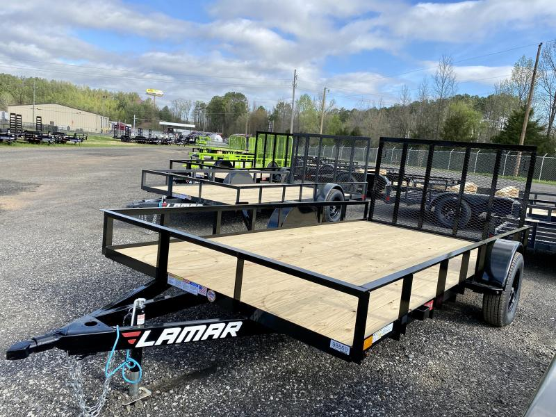 New 2021 Lamar 7ft x 14ft 3.5k Single Axle  Bumper Pull Utility   (Black)