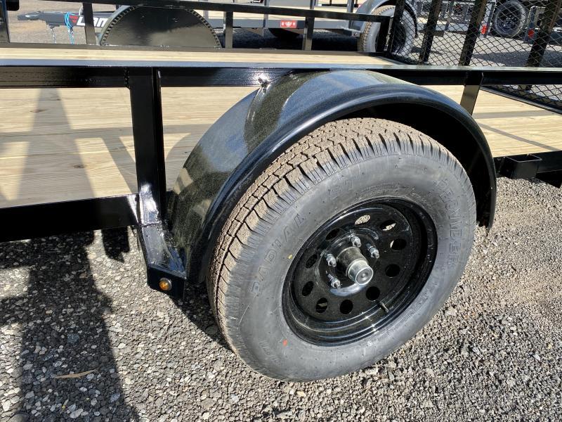 New 2021 Lamar 7ft x 14ft 3.5k Single Axle  Bumper Pull Utility   (Black)